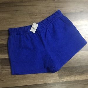 NWT J Crew royal blue pull on shorts size 8